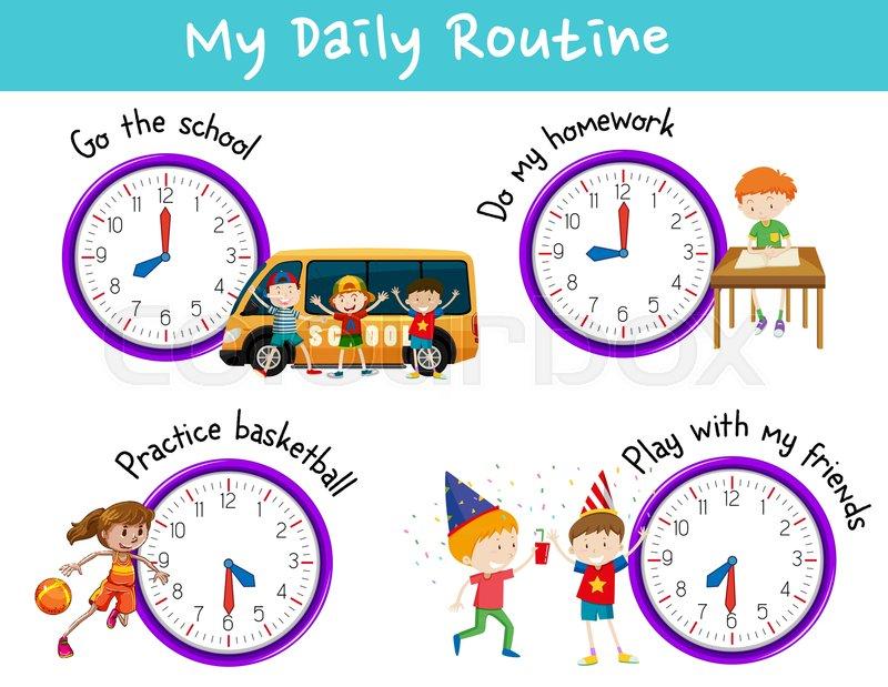 Resultado de imagen para routines homework clipart