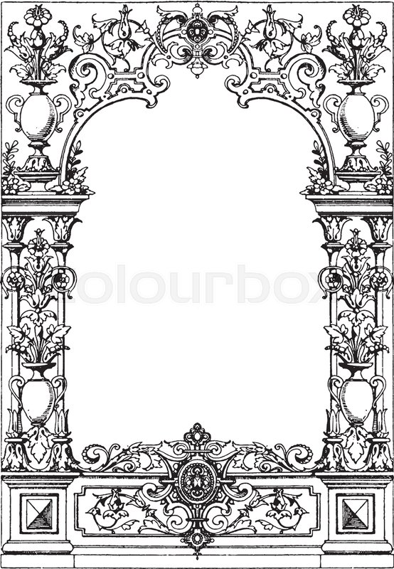 Border Typographical Frame was designed during the Renaissance ...