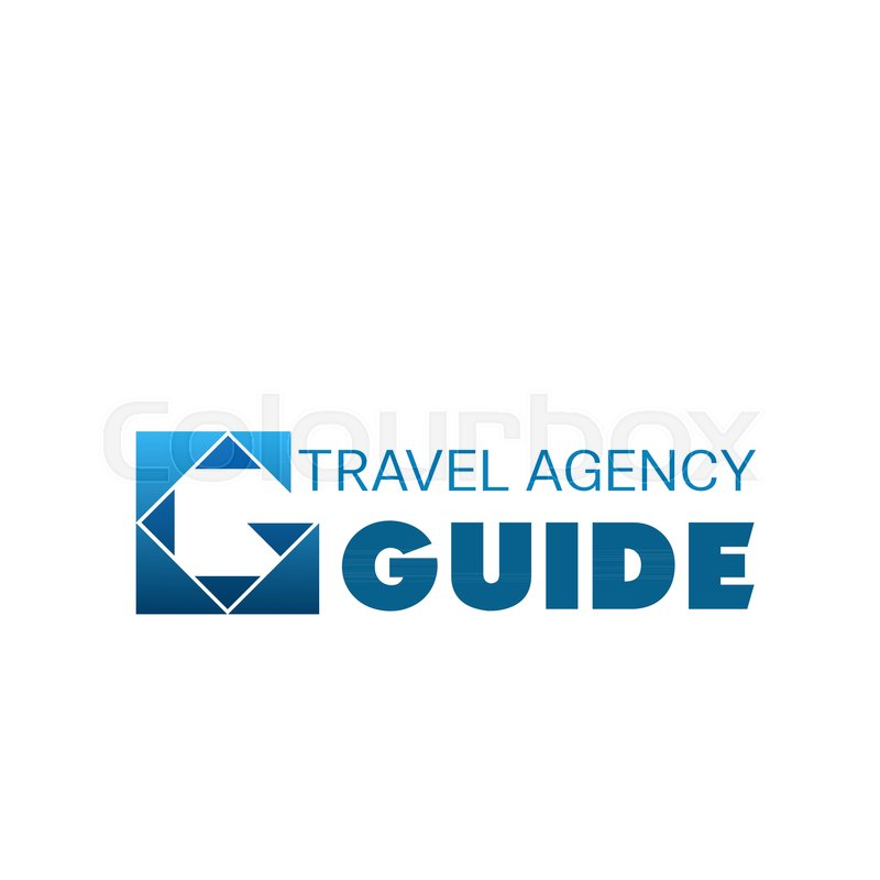 Logo For Tour And Travel Agency Abstract Vector Logo In White And