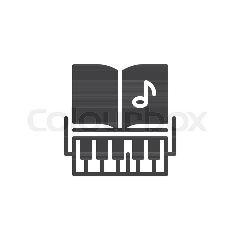 Piano Keys And Music Notes Vector Icon Filled Flat Sign For Mobile Concept Web Design Musical Education Simple Solid Symbol Logo Illustration