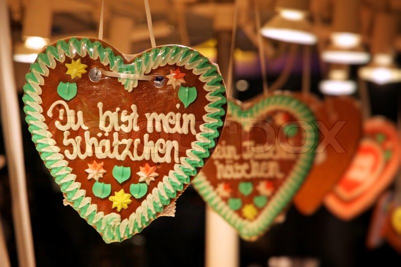 Superb German Christmas Decorations To Make Part - 6: Traditional German Handmade Gingerbread Heart Used As Christmas Decoration  | Stock Photo | Colourbox