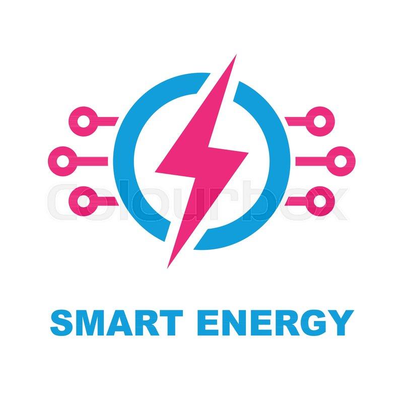 Smart Energy Concept  Vector logo       Stock vector   Colourbox