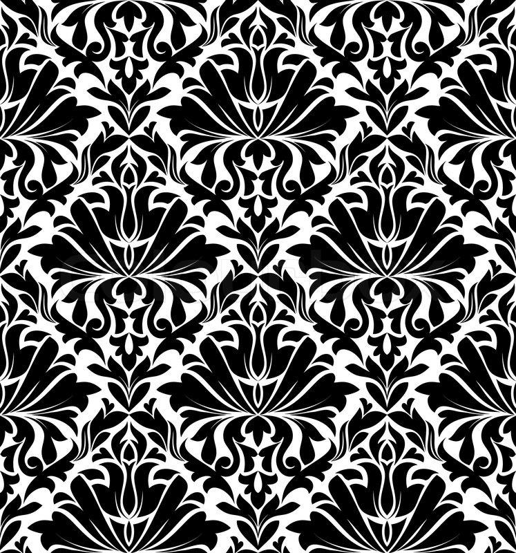 Vintage Damask Seamless Pattern For Background Design In