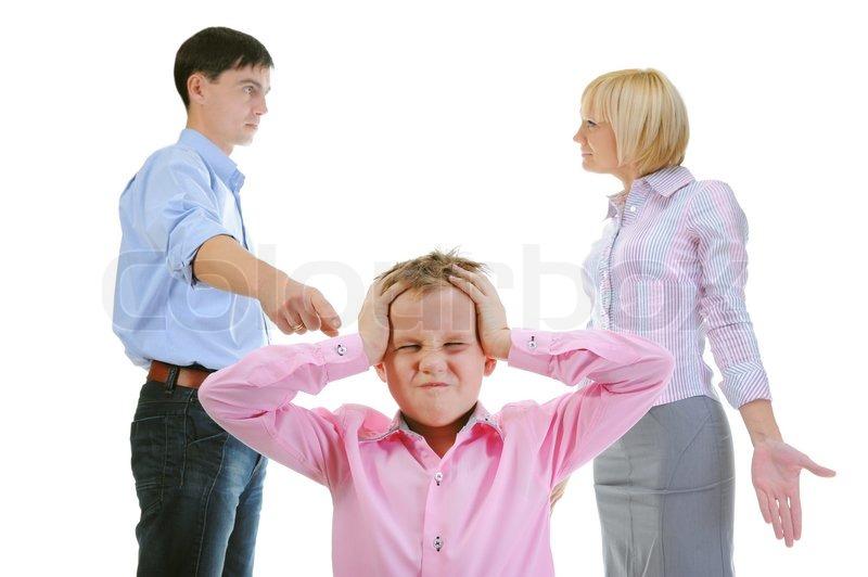 Skandal in der Familie Eltern Aktie Kind  | Stockfoto
