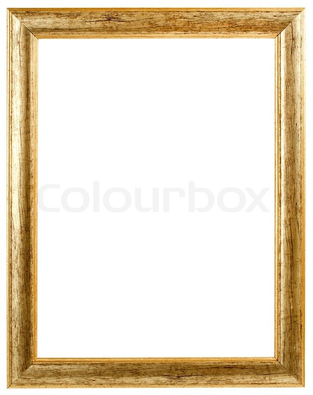 Gold antique frame isolated on white background stock photo colourbox - Cadre photo dessin ...