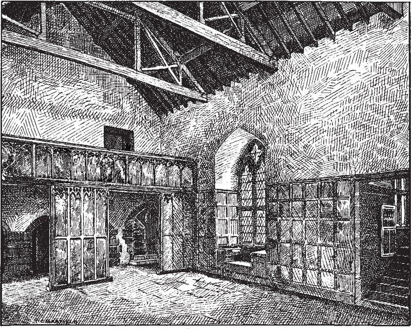 Gothic Architecture Banquet Hall Fourteenth Century Banquet
