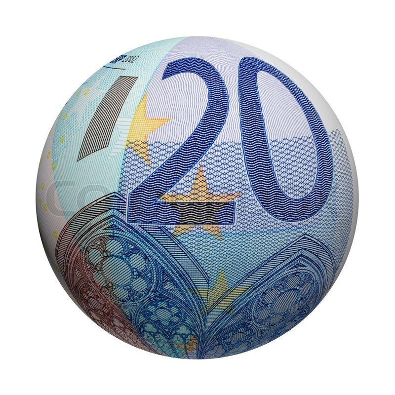 kugel euro geldschein stockfoto colourbox