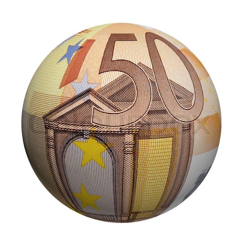 kugel euro geldschein stock bild colourbox