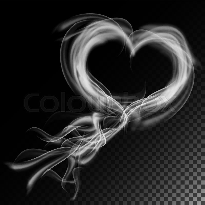 realistic cigarette smoke waves vector smoke or steam texture created with gradient mesh smoke isolated over black stock vector colourbox