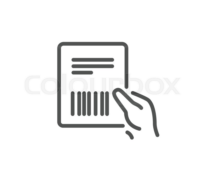 parcel invoice line icon delivery document sign package shipping