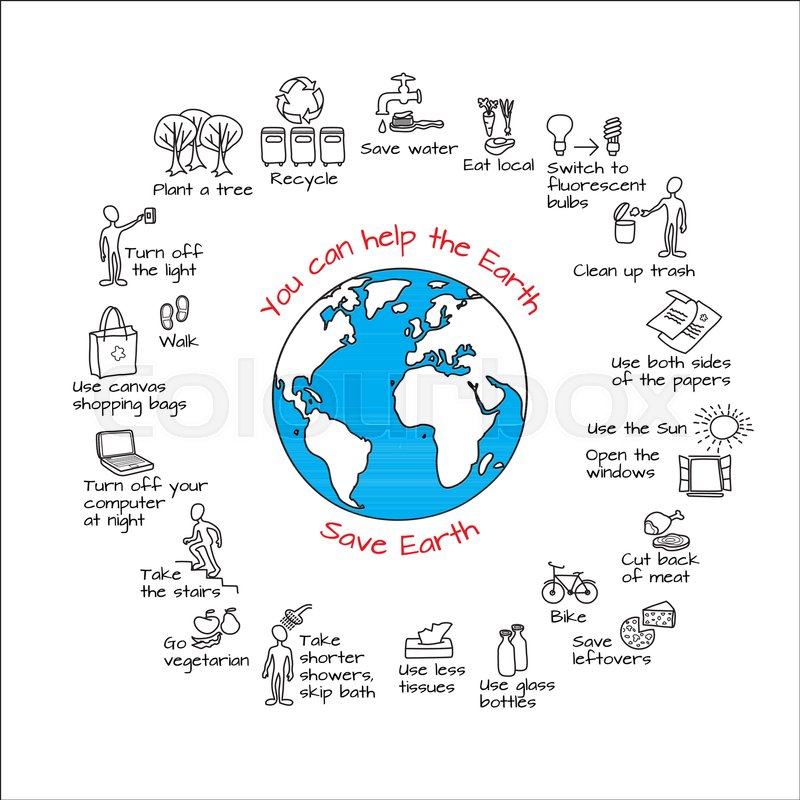 You Can Help The Earth Save Planet Ecology Infographics Hand
