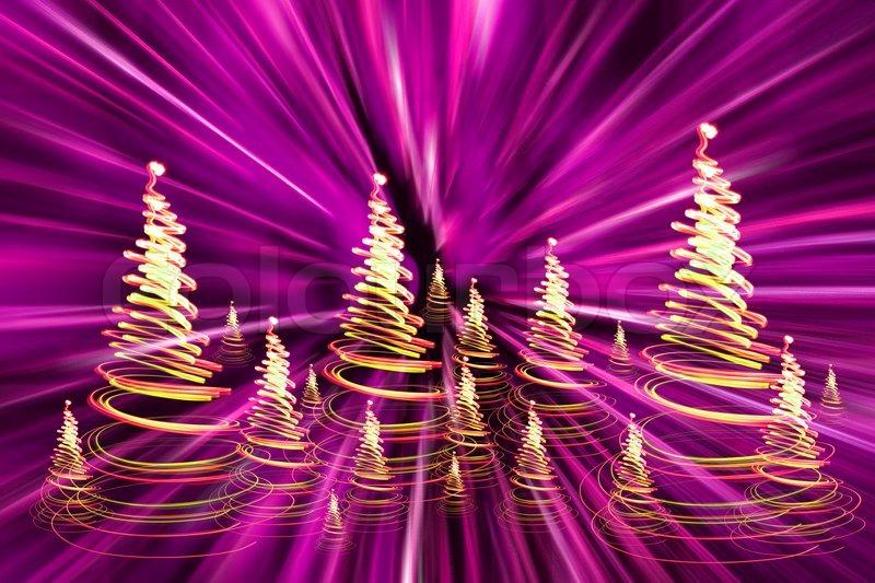 Color christmas lights as very nice christmas tree | Stock Photo ...