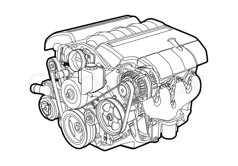 vectro illustration of a engine on