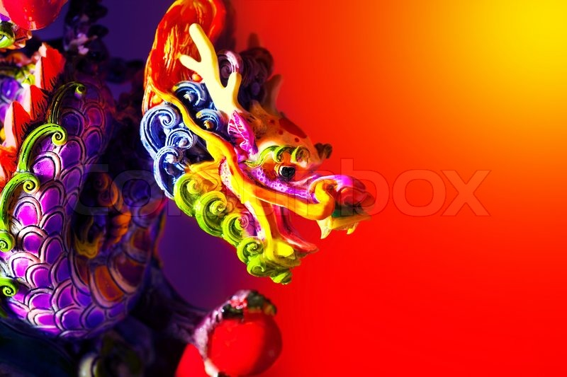 colorful dragon head border traditional asian decoration and ornamental art chinese zodiac astrology sign 2012 new year symbol stock photo colourbox