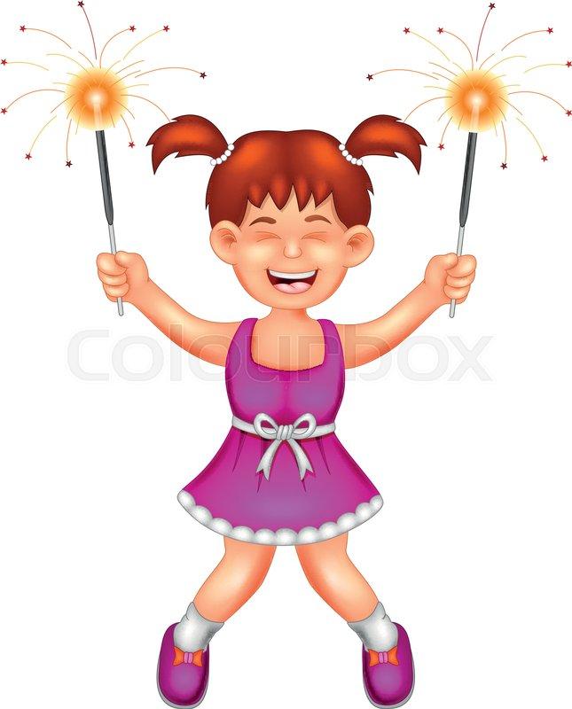 Vector Illustration Of Cute Girl Stock Vector Colourbox