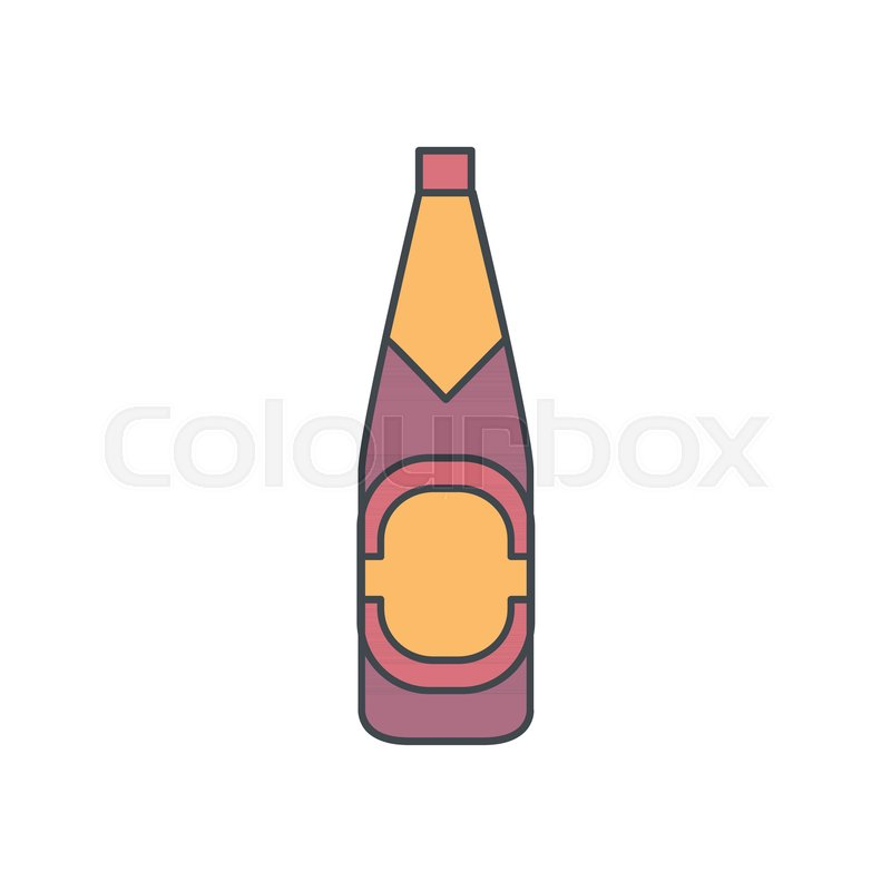 alcohol bottle cartoon icon vector object in colour cartoon stile beer bottle icon for drinks design menue and web stock vector colourbox rh colourbox com cartoon beer bottle vector beer bottle cartoon pictures