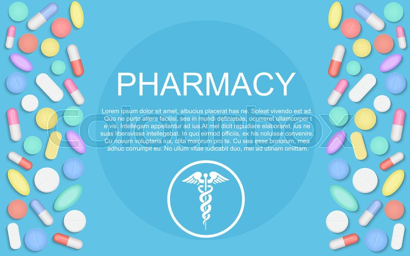 Modern Flat Design Medicine Pharmacy Stock Vector Colourbox