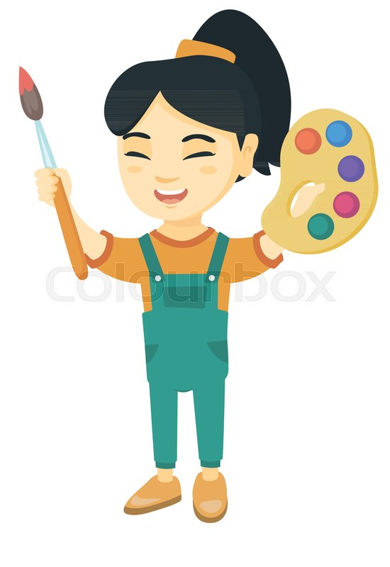 Asian girl cartoons