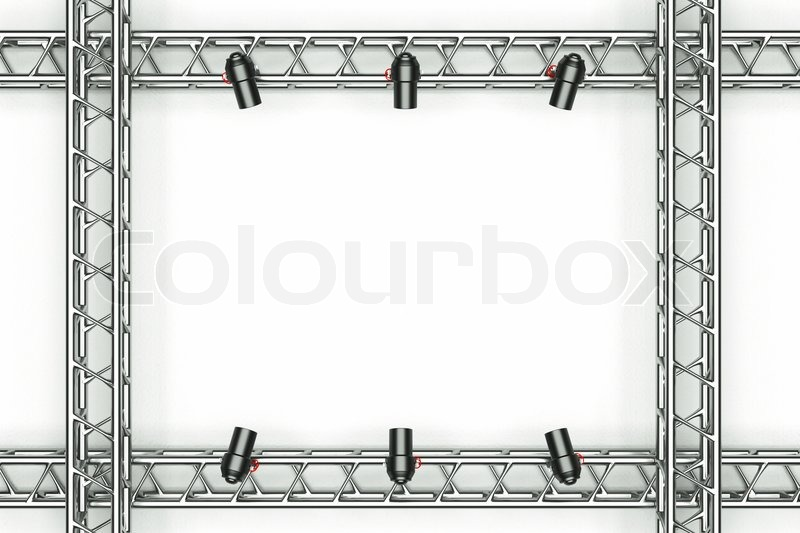 A center stage with metal frame, put your object in the center ...