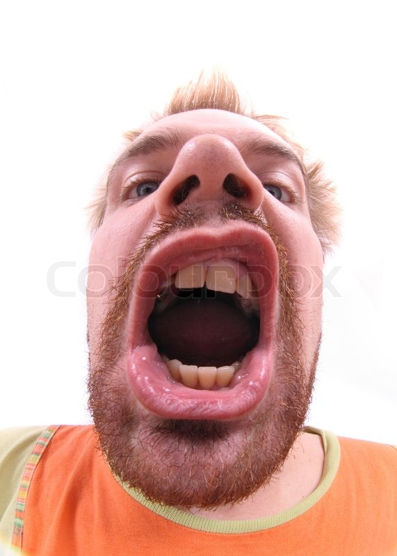 Face of ugly man on the white background stock photo - Ugly face wallpaper ...