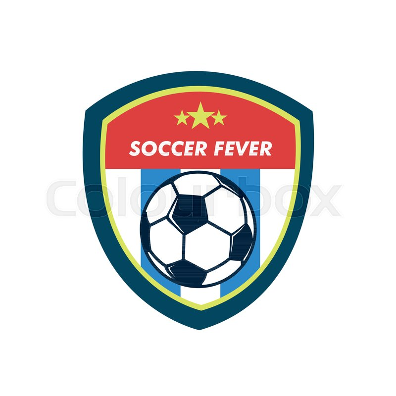 soccer fever simple vintage shield footbal club emblem vector