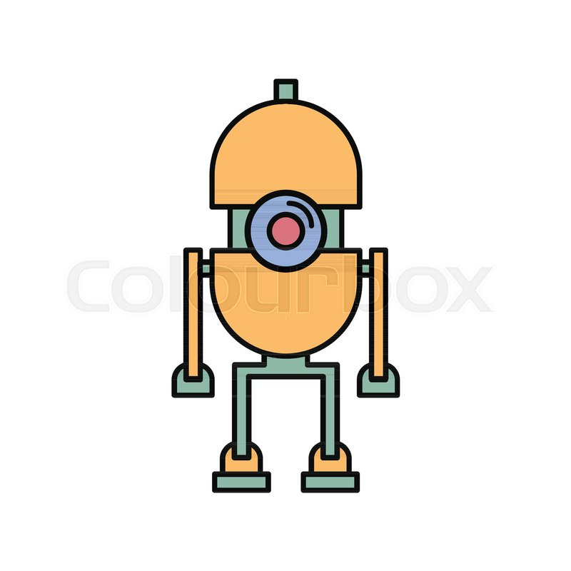 robot icon in cartoon style vector illustration with automatic rh colourbox com robot vector anki robot vector southampton