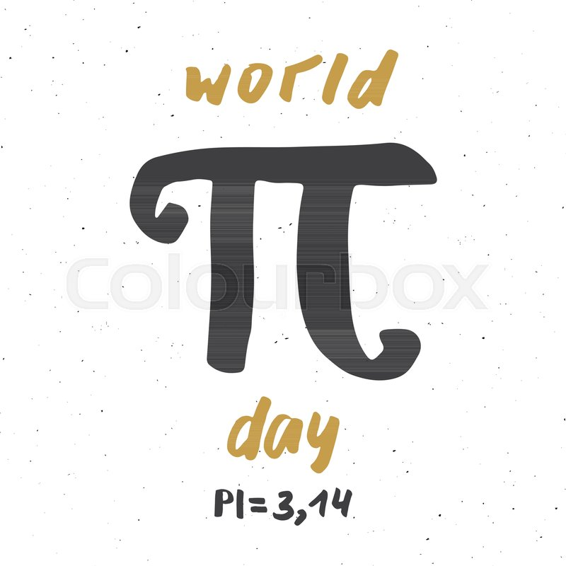 Pi Symbol Hand Drawn Icon Grunge Calligraphic Mathematical Sign