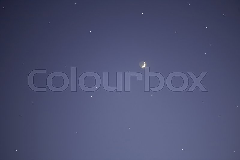 Stock image of 'Starry sky. The Moon and stars. Background'