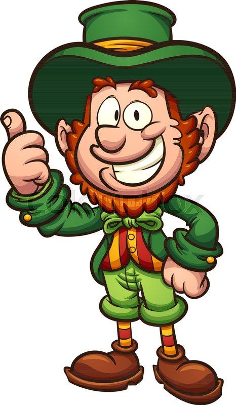 Happy cartoon leprechaun with thumbs ...   Stock vector ...