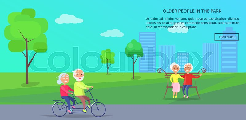 Old mature riding