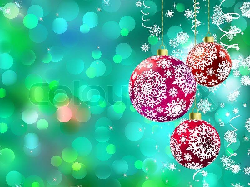 weihnachten hintergrund mit multicolor kugeln und defokussiert lichter vektorgrafik colourbox. Black Bedroom Furniture Sets. Home Design Ideas