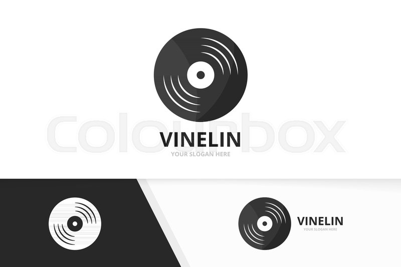 Vector vinyl logo combination record symbol or icon unique music vector vinyl logo combination record symbol or icon unique music album logotype design template stock vector colourbox maxwellsz