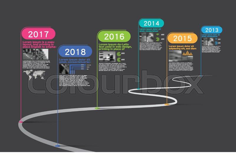 milestone company  infographic vector