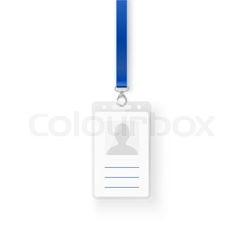 Identification personal plastic id card. Empty template of ID badge ...