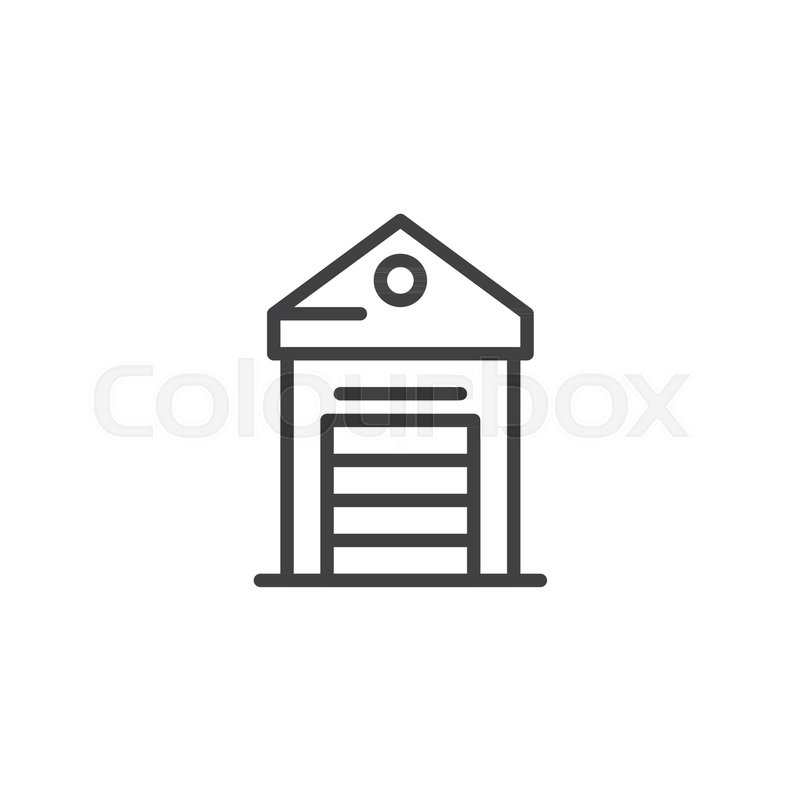 Greenhouse Outline Icon Linear Style Sign For Mobile Concept And Web Design Glasshouse Simple Line Vector Symbol Logo Illustration
