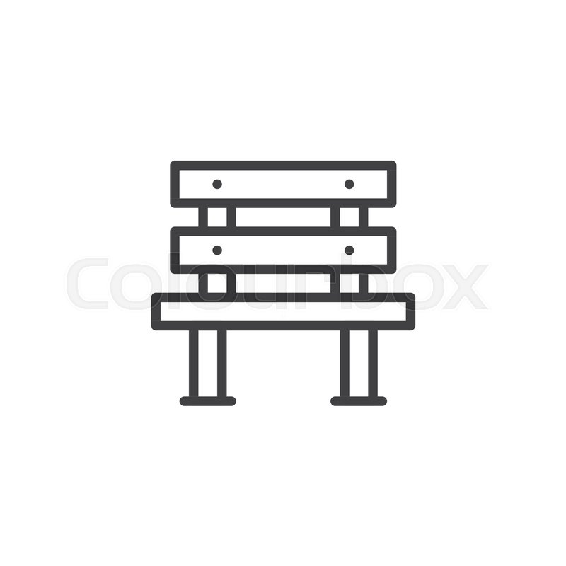 Sensational Wooden Bench Outline Icon Linear Stock Vector Colourbox Machost Co Dining Chair Design Ideas Machostcouk