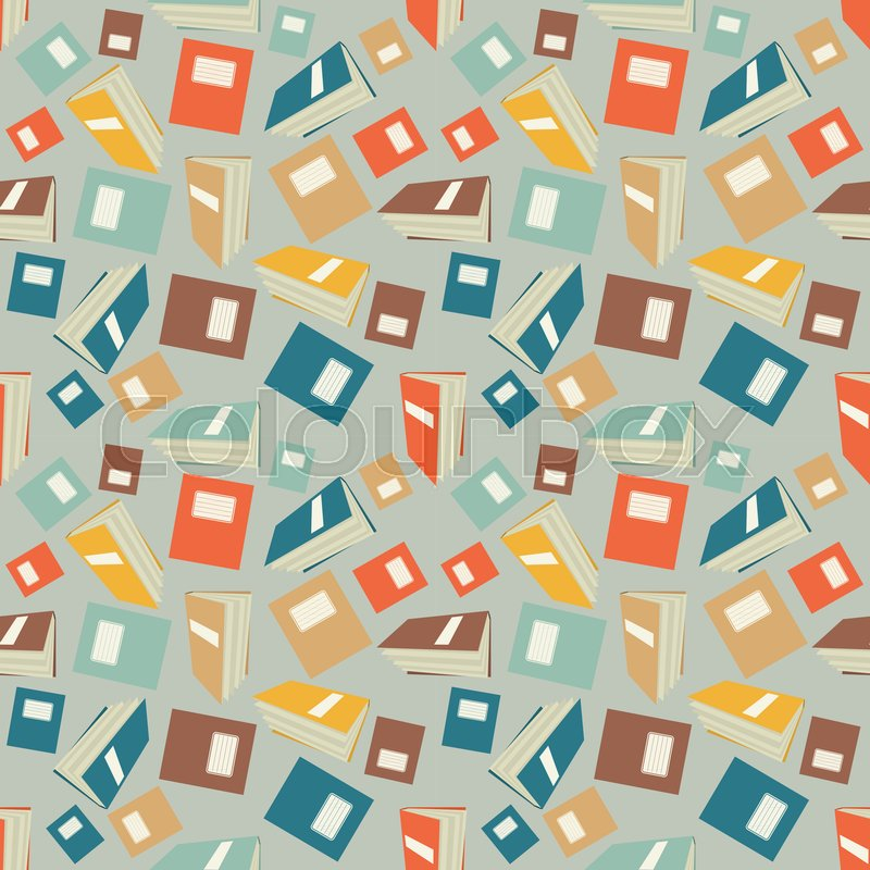 Seamless Colorful Wallpaper Pattern Stock Vector Colourbox