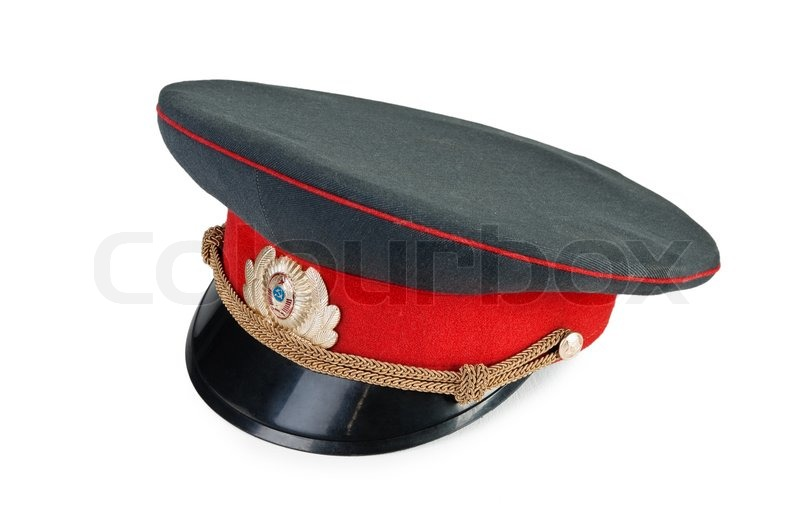 Russian military officer cap isolated ...  0b509068766