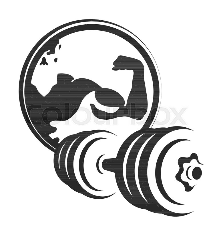 Dumbbell Symbol For The Gym And Fitness Silhouette Stock Vector