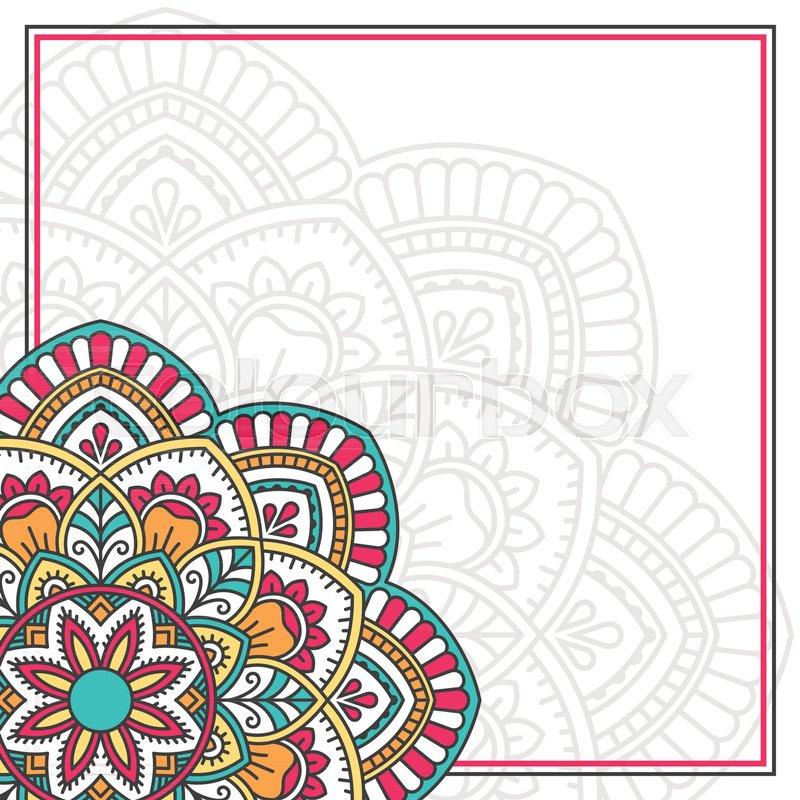 Invitation card with mandala. Vintage decorative elements | Stock ...