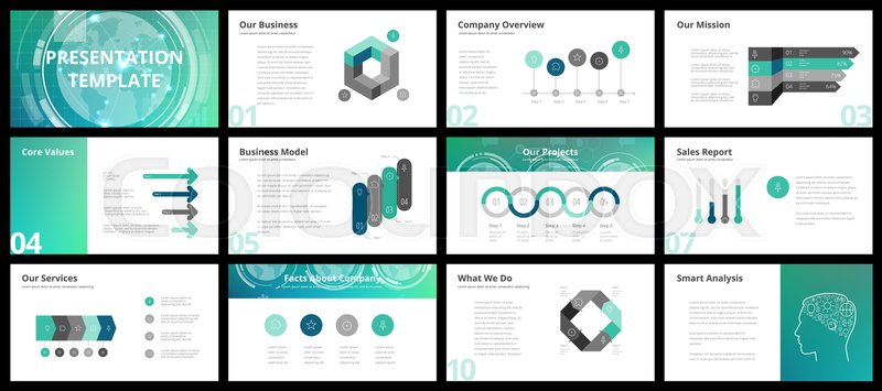 Business Presentation Template | Business Presentation Templates Stock Vector Colourbox
