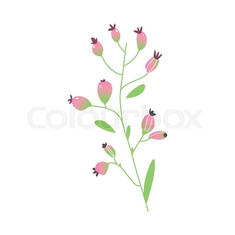 Vector Cartoon Abstract Pink Flower Stock Vector Colourbox