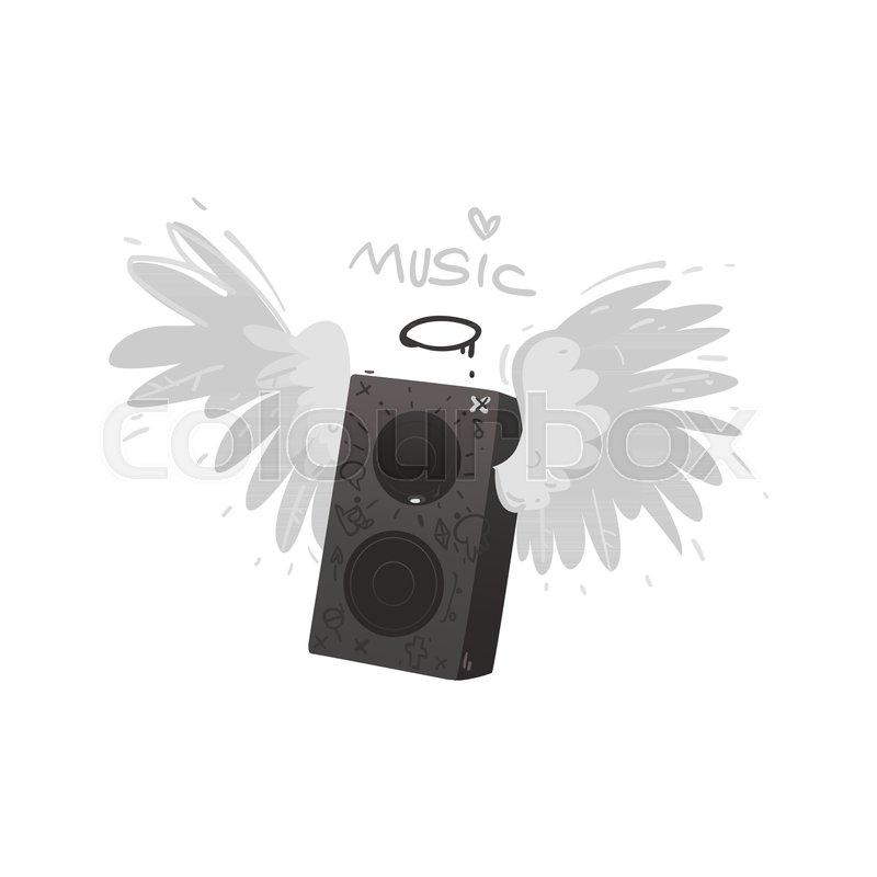 Vector Flat Loudspeaker Acoustic Stereo Loud Music Equipment