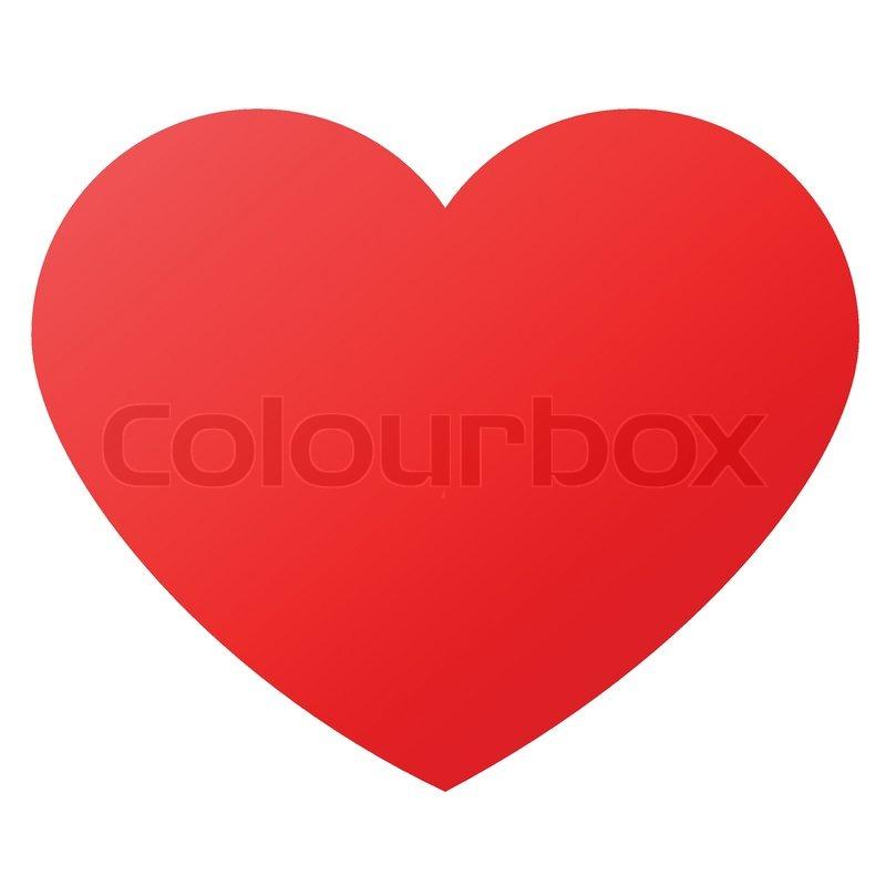 Heart Shape For Love Symbols Stock Vector Colourbox