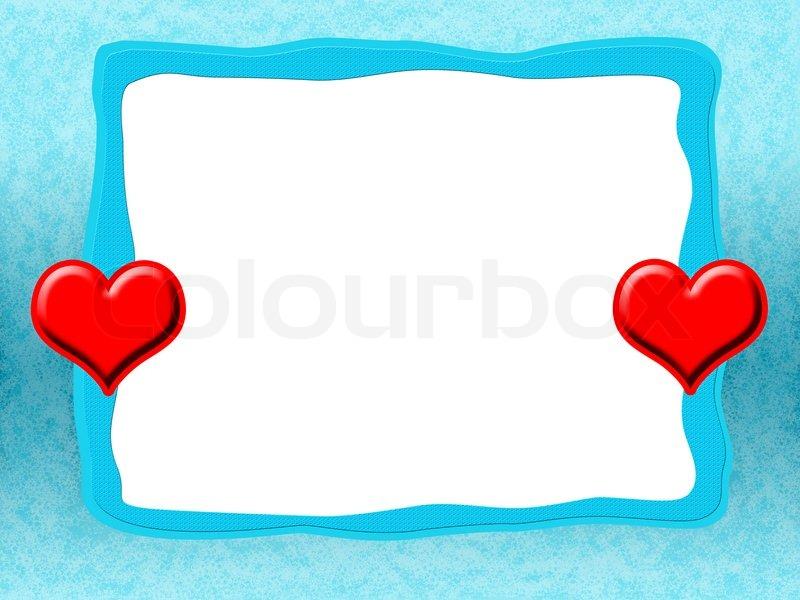 Liebe Rahmen mit roten Herzen | Stockfoto | Colourbox