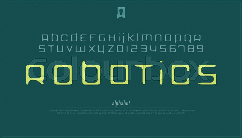 Handcrafted Style Alphabet Letters And Numbers Vector Hand Drawn