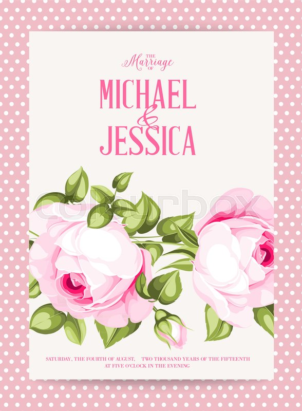 Flower garland for invitation card wedding card template with 800pxcolourbox31510817g mightylinksfo
