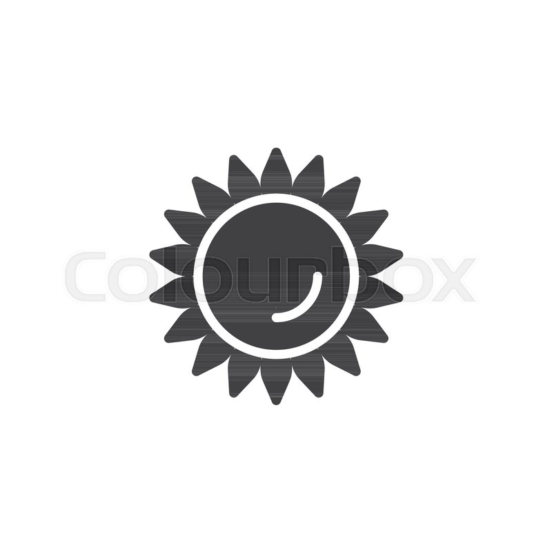 Sunflower Vector Icon Filled Flat Sign For Mobile Concept And Web