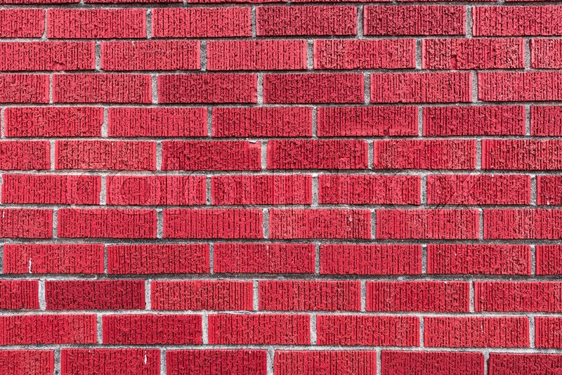Red Brick Wall High Resolution Stock Image Colourbox