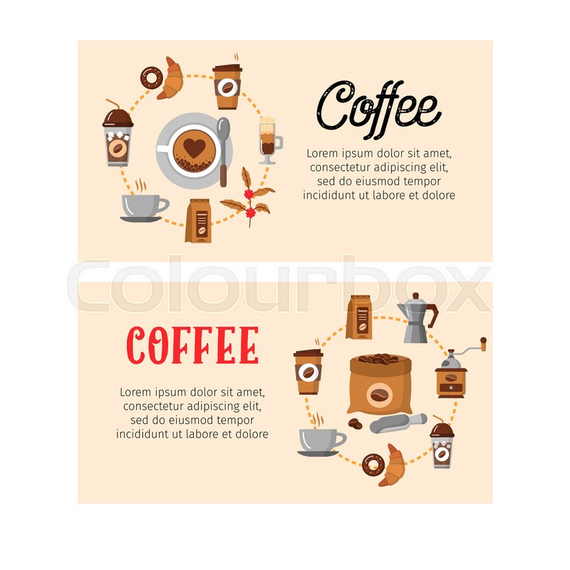 Coffee design templates. Modern icons for coffee shop and coffee ...
